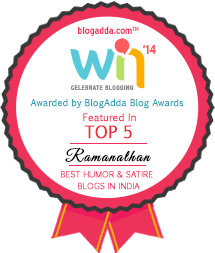 Blogadda award at WIN 14
